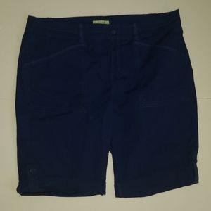 Caribbean Joe 16 Petite Bermuda Shorts Navy Blue